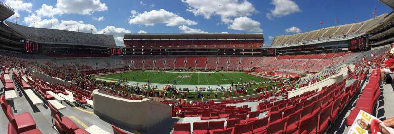 Seating view for Bryant-Denny Stadium Section HH