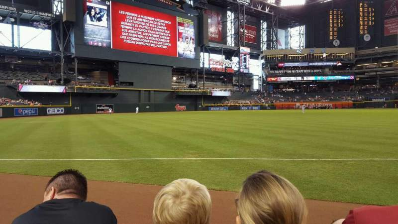 Seating view for Chase Field Section 132 Row 2 Seat 12
