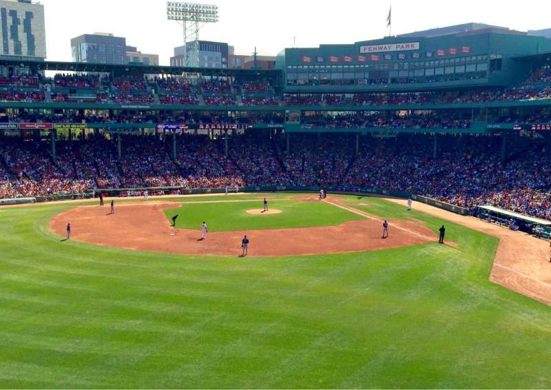 Seating view for Fenway Park Section Green Monster 5 Row 2 Seat 8