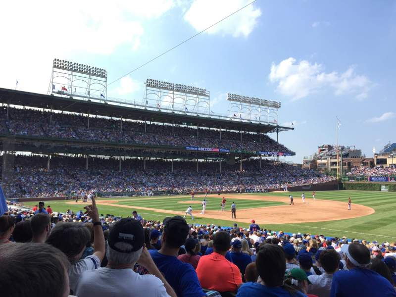 Seating view for Wrigley Field Section 134 Row 13 Seat 5