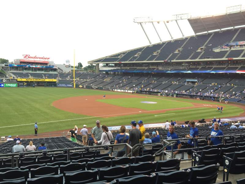 Seating view for Kauffman Stadium Section 215 Row GG Seat 8