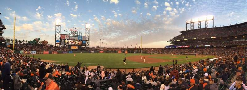 Seating view for AT&T Park Section 126 Row 16 Seat 11