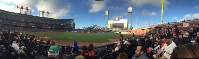 Seating view for AT&T Park Section 103 Row 5 Seat 6