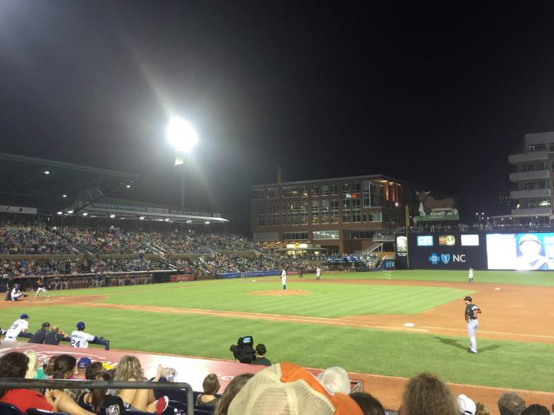Seating view for Durham Bulls Athletic Park Section 114 Row K Seat 2