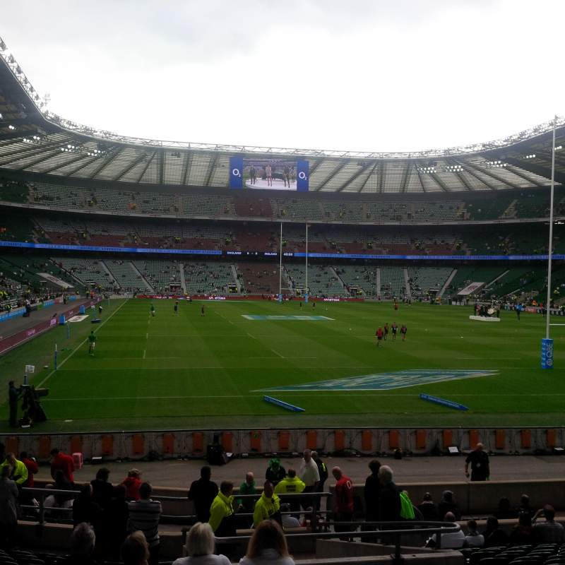 Seating view for Twickenham Stadium Section L17 Row 22 Seat 196