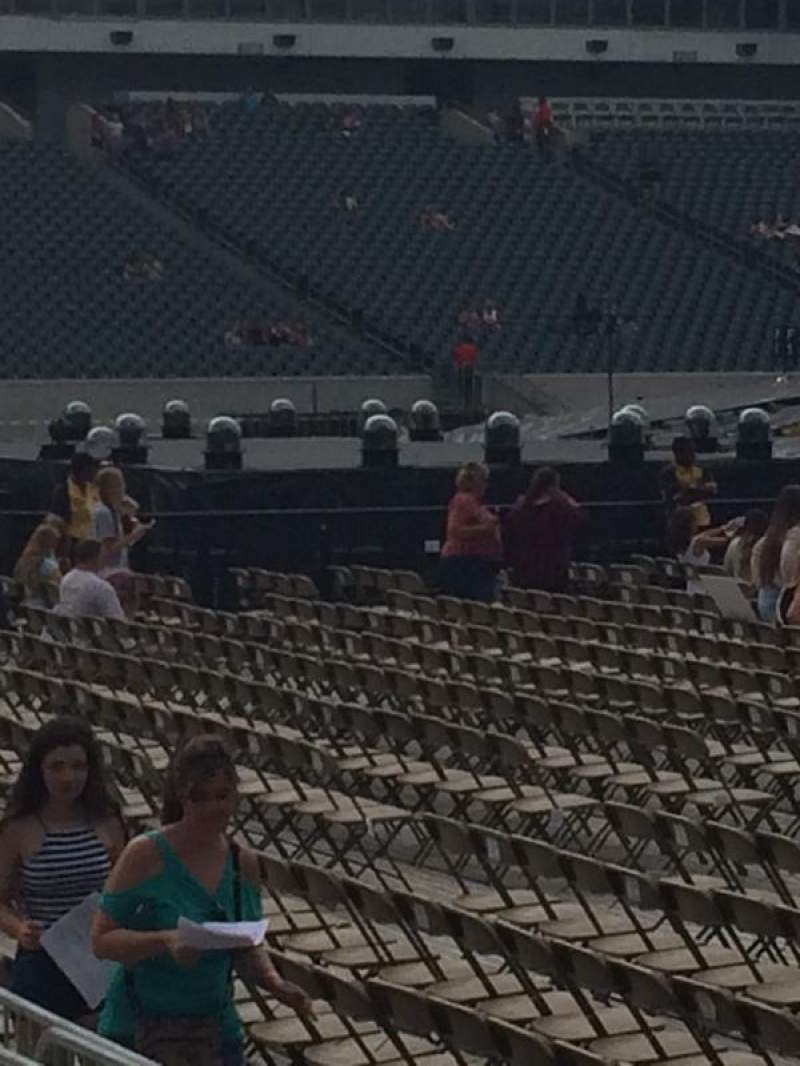Seating view for Lincoln Financial Field Section 117 Row 2 Seat 3
