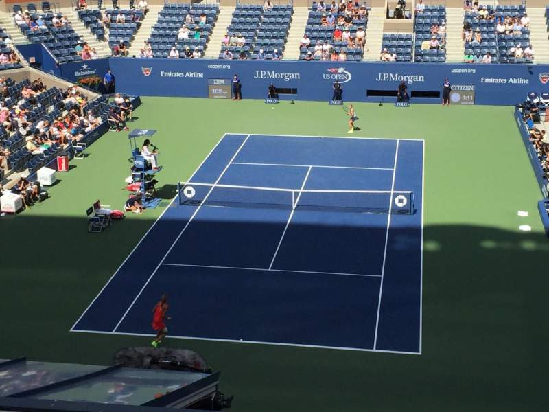 Seating view for Arthur Ashe Stadium Section 102 Row C Seat 4