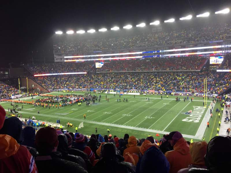 Seating view for Gillette Stadium Section 227 Row 21