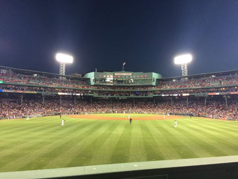 Seating view for Fenway Park Section Bleacher 35 Row 2 Seat 16