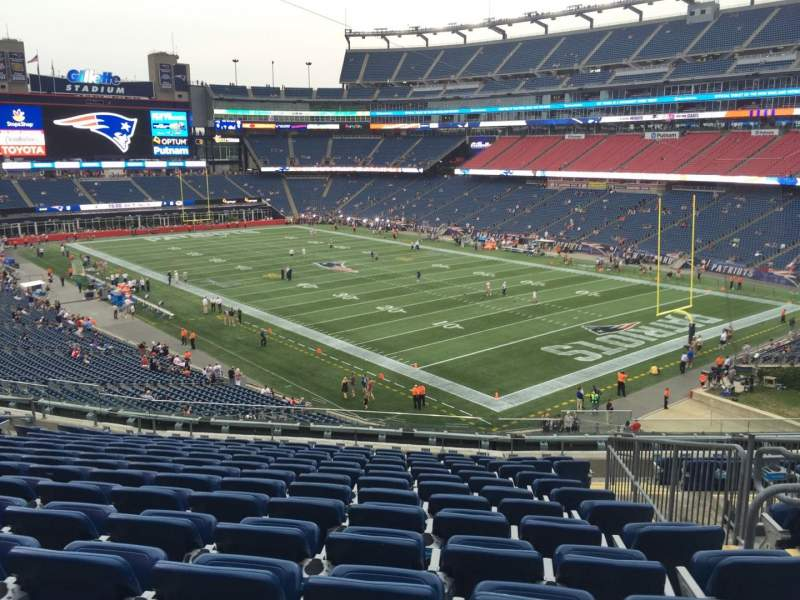 Seating view for Gillette Stadium Section 203 Row 14 Seat 4