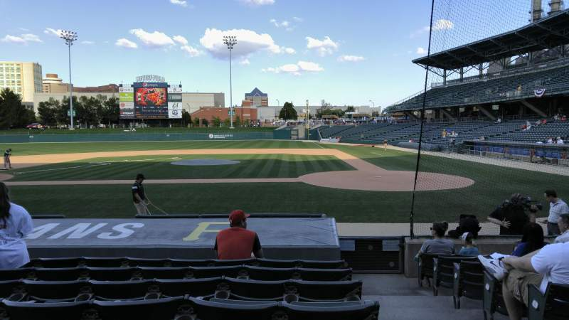Seating view for Victory Field Section 109 Row L Seat 1