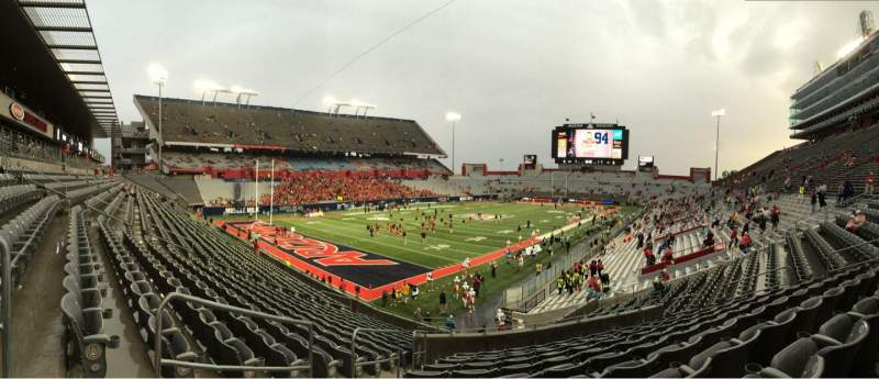 Seating view for Arizona Stadium Section 27 Row 17 Seat 17