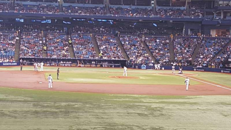 Seating view for Tropicana Field Section 143 Row JJ Seat 5