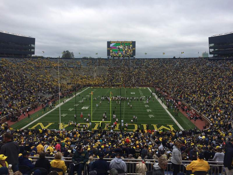 Seating view for Michigan Stadium Section 11 Row 82 Seat 5