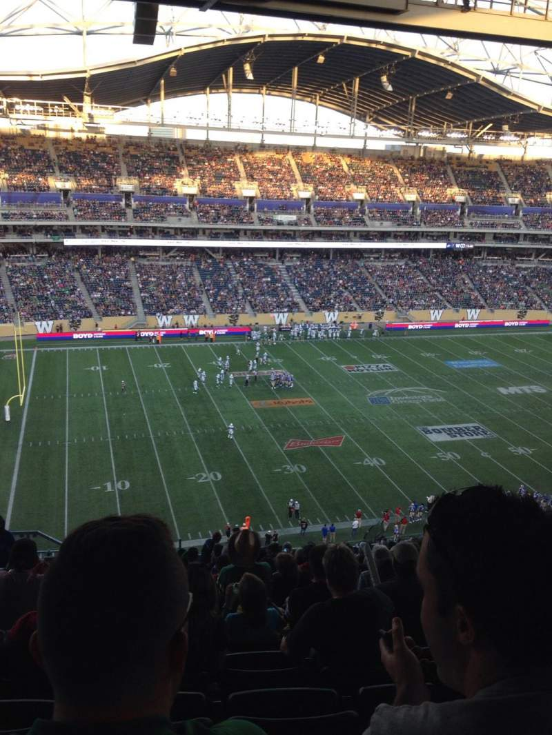 Seating view for Investors Group Field Section 233 Row 25 Seat 19