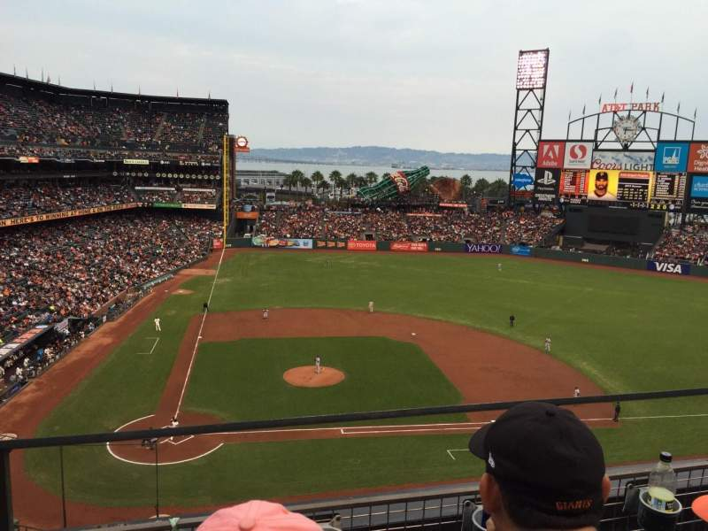 Seating view for AT&T Park Section 310 Row B Seat 17