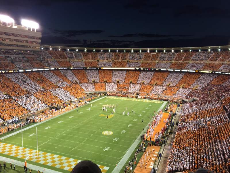 Seating view for Neyland stadium Section II Row 15 Seat 18