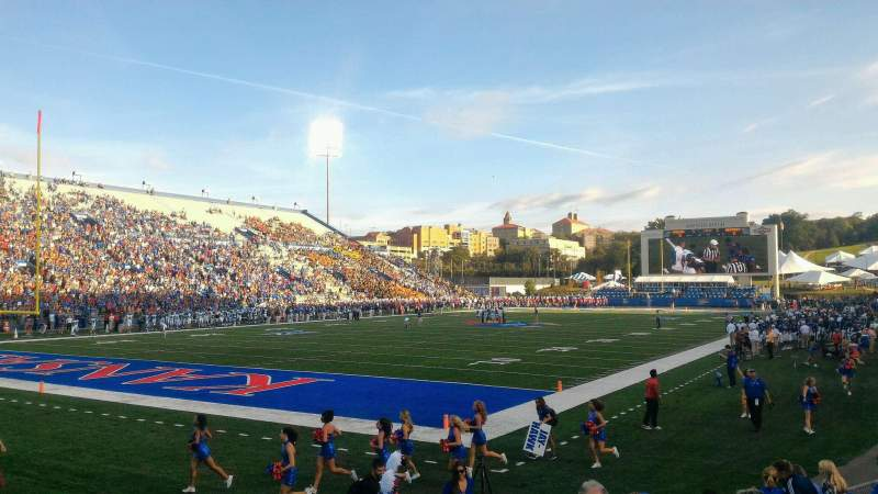 Seating view for University of Kansas Memorial Stadium Section 11 Row 11 Seat 18