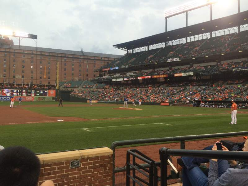 Seating view for Oriole Park at Camden Yards Section 56 Row 5 Seat 1