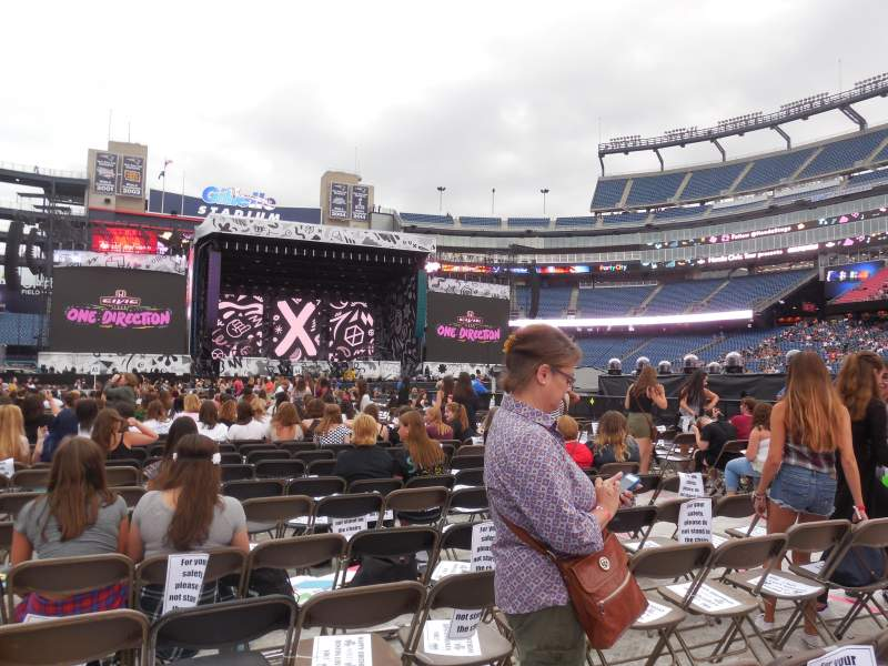 Seating view for Gillette Stadium Section B4 Row 36 Seat 10