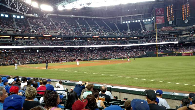 Seating view for Chase Field Section 111 Row 7 Seat 12