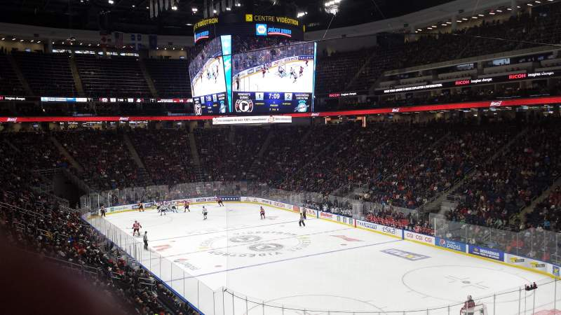 Seating view for Centre Vidéotron Section 108 Row UU Seat 20