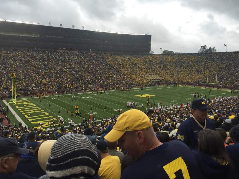 Seating view for Michigan Stadium Section 6 Row 63 Seat 20