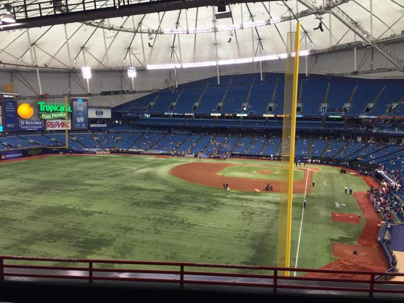 Seating view for Tropicana Field Section 345 Row F Seat 26