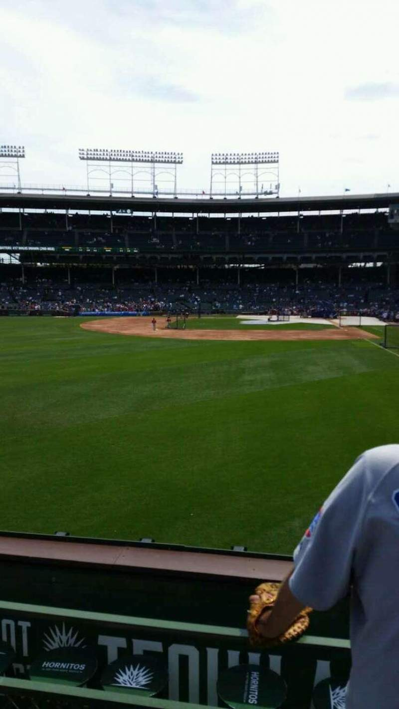 Seating view for Wrigley Field Section bleacher