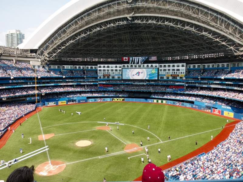 Seating view for Rogers Centre Section 522 Row 3 Seat 10