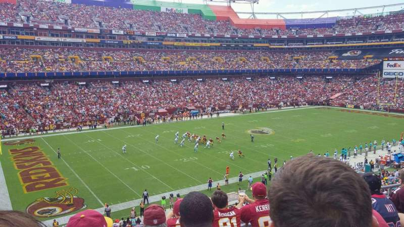 Seating view for FedEx Field Section 326 Row 5 Seat 14