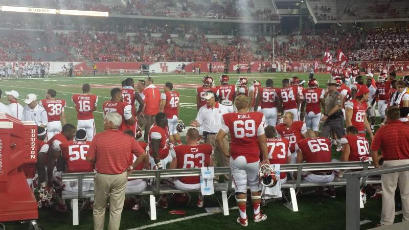 Seating view for TDECU Stadium Section 114 Row 2 Seat 2