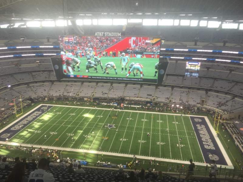 Seating view for AT&T Stadium Section 411 Row 28 Seat 11