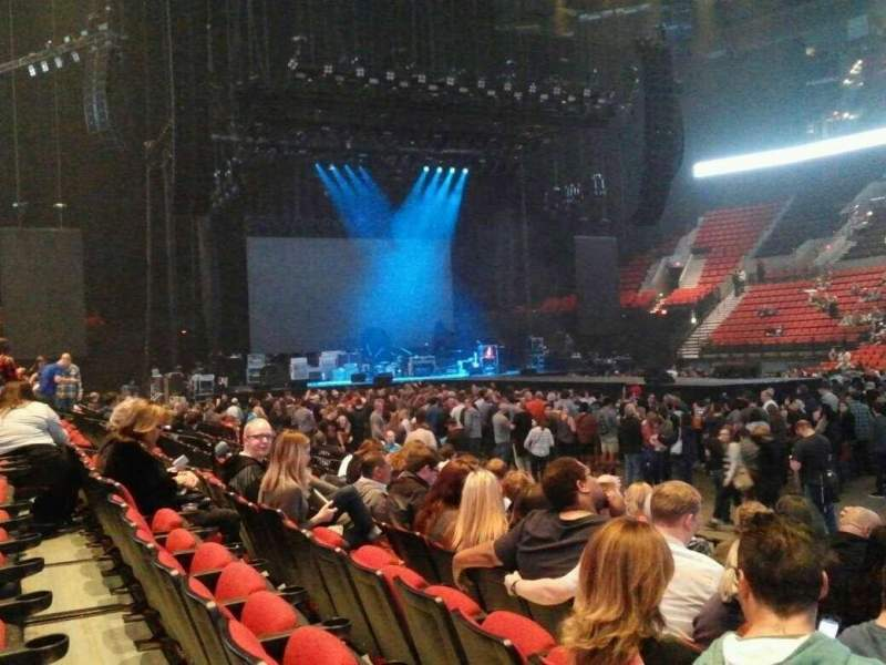 Seating view for Moda Center Section 121 Row F Seat 18