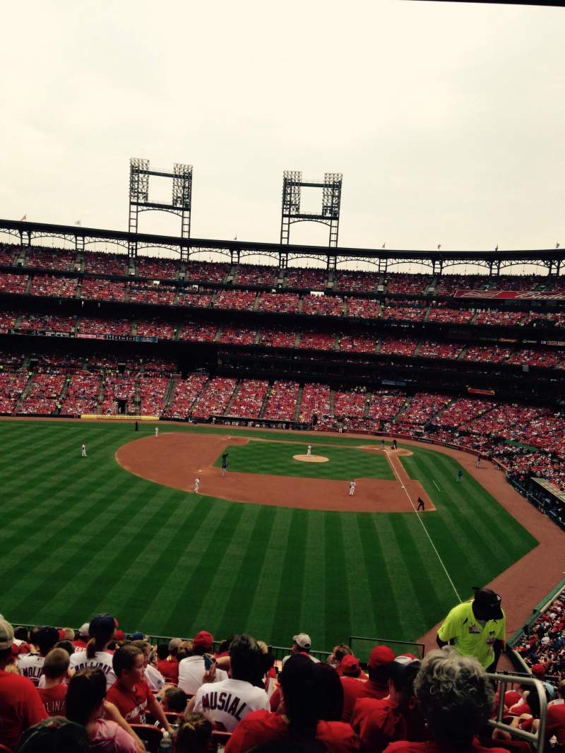 Seating view for Busch Stadium Section 272 Row 14 Seat 1