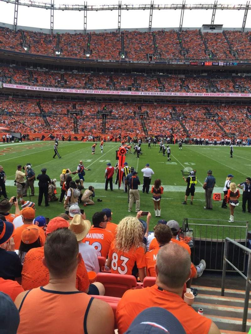 Seating view for Sports Authority Field at Mile High Section 126 Row 7 Seat 1