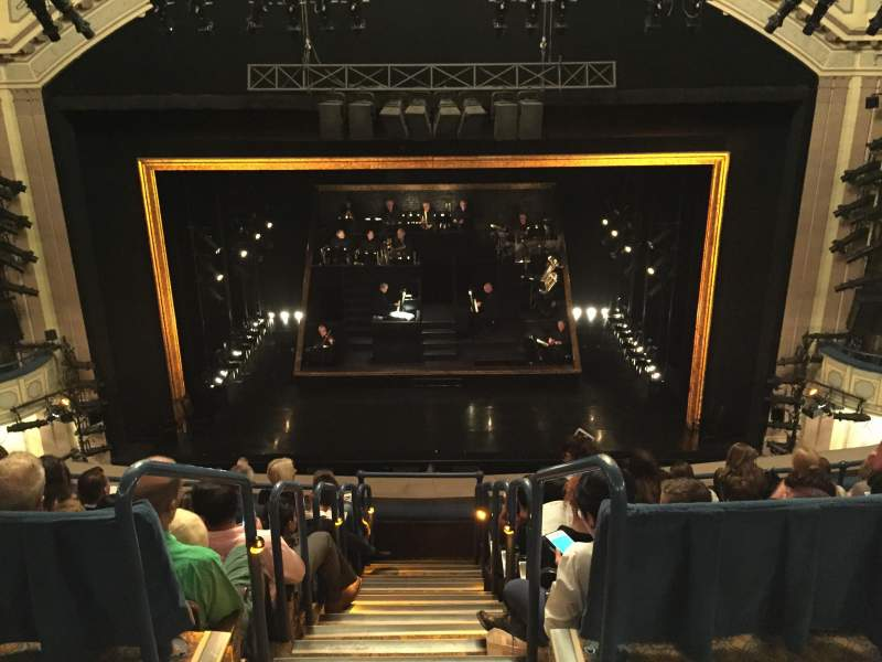 Seating view for Ambassador Theatre Section Rear Mezz Row A Seat 110