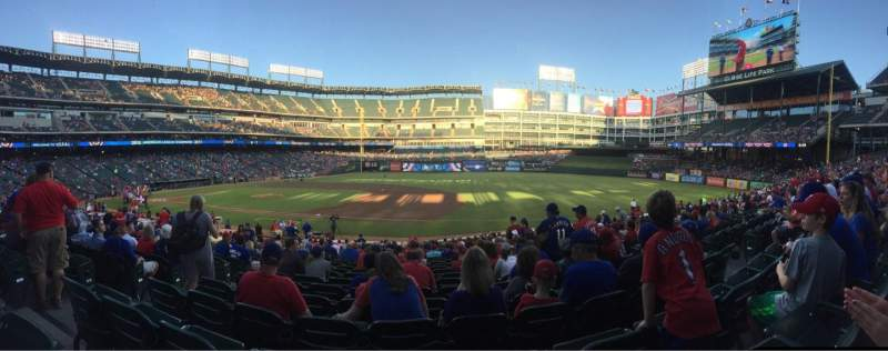 Seating view for Globe Life Park in Arlington Section 35 Row 23 Seat 5