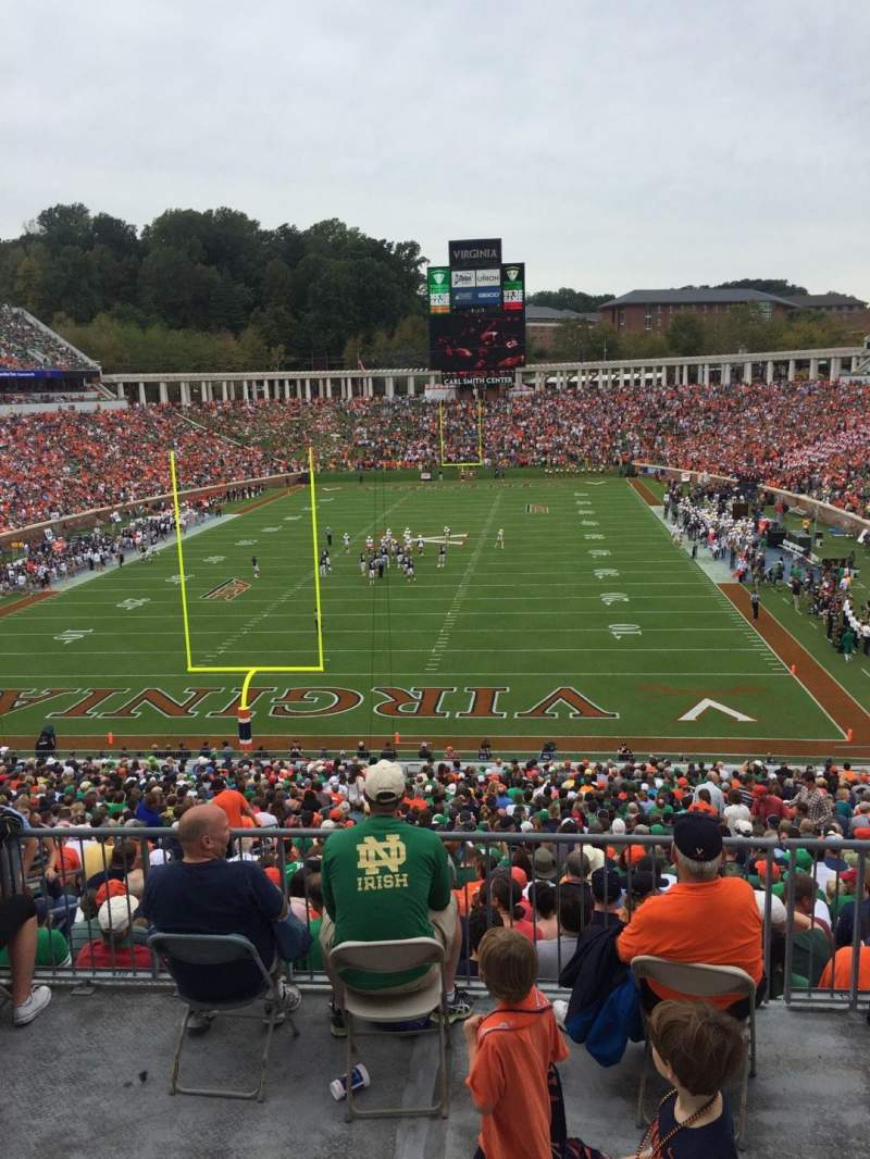 Seating view for Scott Stadium Section 315 Row A Seat 26