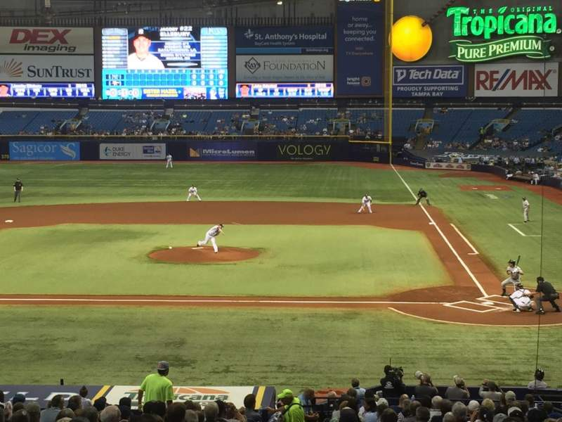 Seating view for Tropicana Field Section 109 Row JJ Seat 1