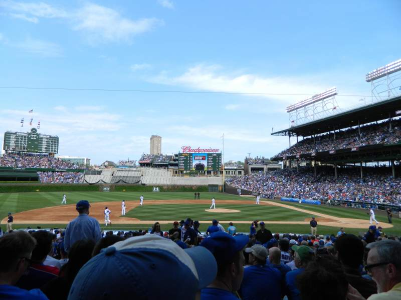 Seating view for Wrigley Field Section 114 Row 11 Seat 8