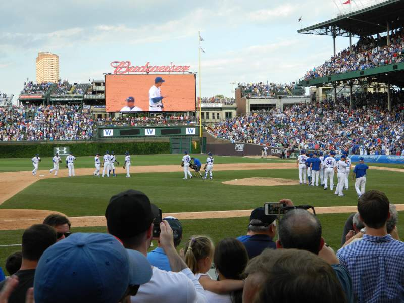 Seating view for Wrigley Field Section 12 Row 7 Seat 10