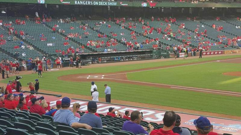 Seating view for Globe Life Park in Arlington Section 34 Row 21 Seat 13