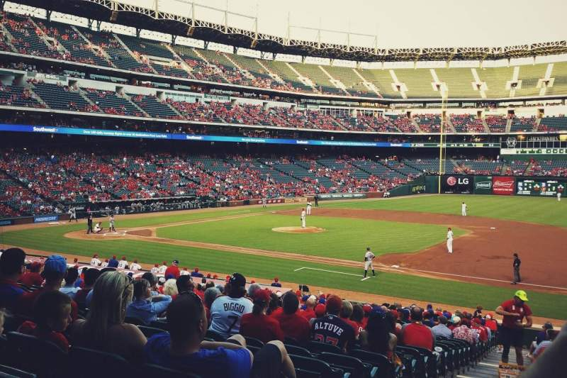Seating view for Globe Life Park in Arlington Section 35 Row 25 Seat 1