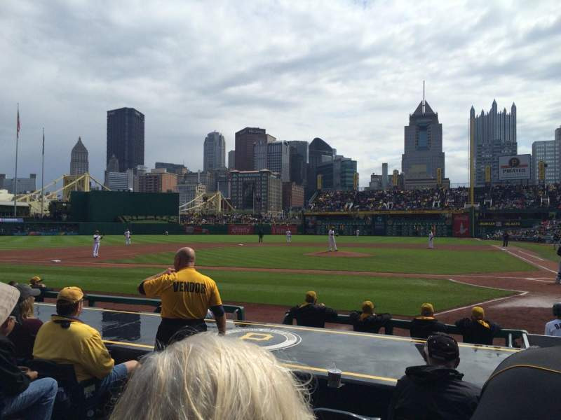 Seating view for PNC Park Section 20 Row K Seat 10