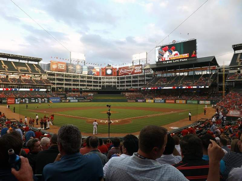 Seating view for Globe Life Park in Arlington Section 26 Row 17 Seat 10