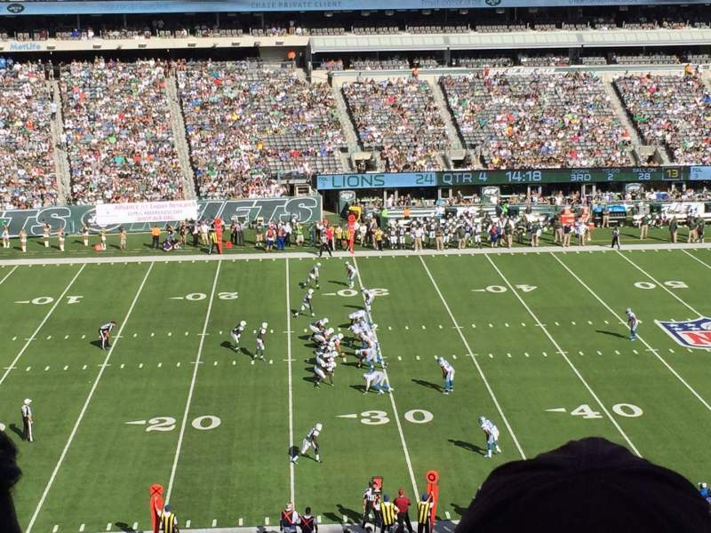Seating view for Metlife Stadium Section 241 Row 3 Seat 7