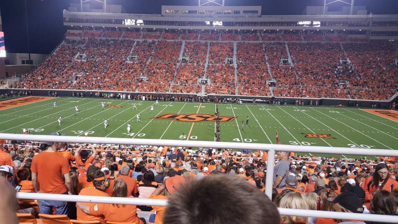 Seating view for Boone Pickens Stadium Section 331 Row 2 Seat 17