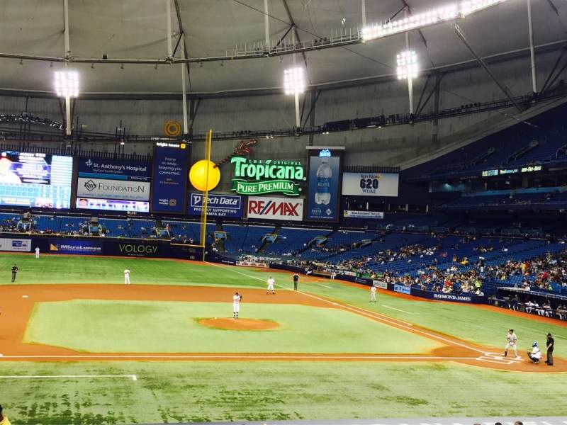 Seating view for Tropicana Field Section 115 Row FF Seat 1