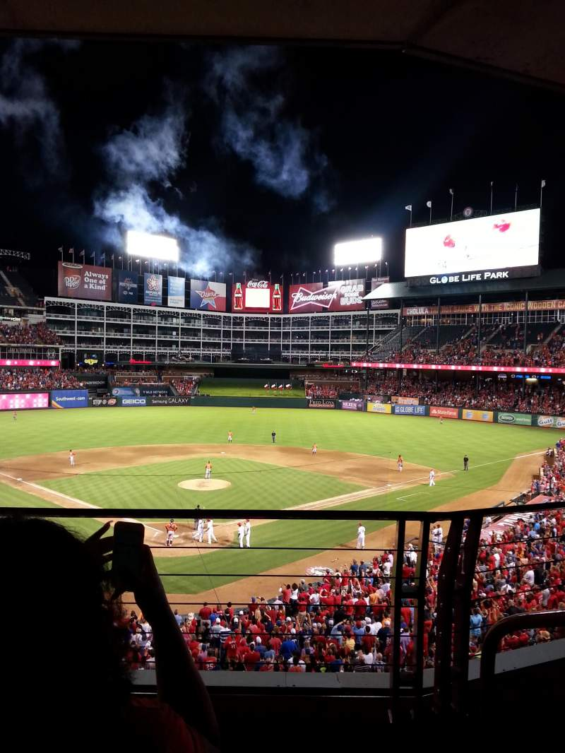 Seating view for Globe Life Park in Arlington Section George W Bush Suite Seat s118b